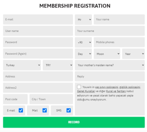 youwin sign up offer