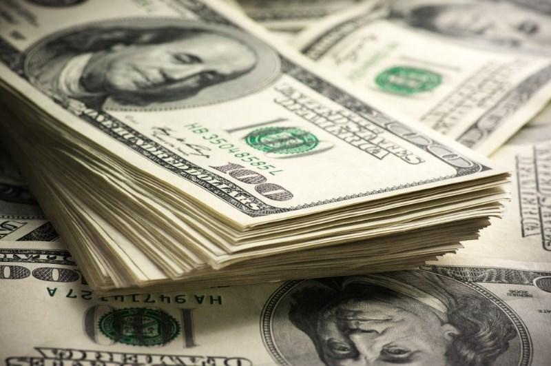 Stack of casino bonus dollars