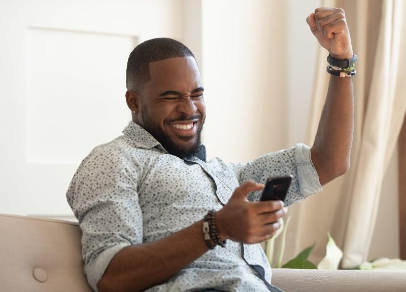 Ghana man winning at online casino