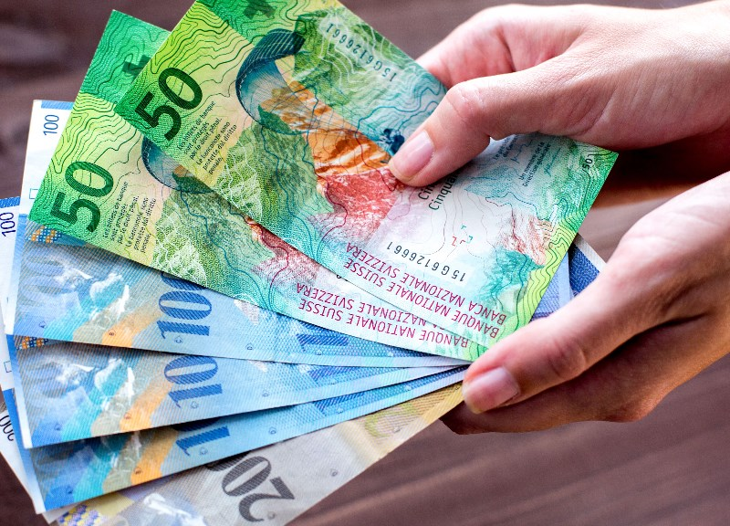 Swiss francs for online gambling