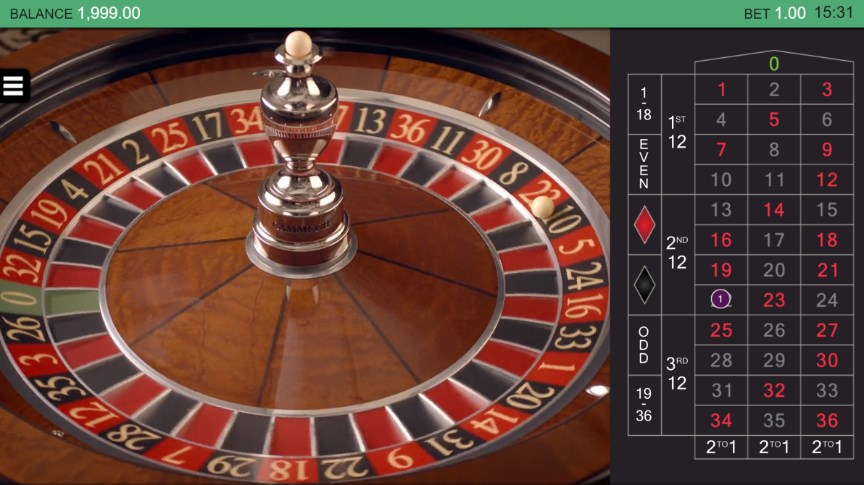 Roulette with Sarati Wheel