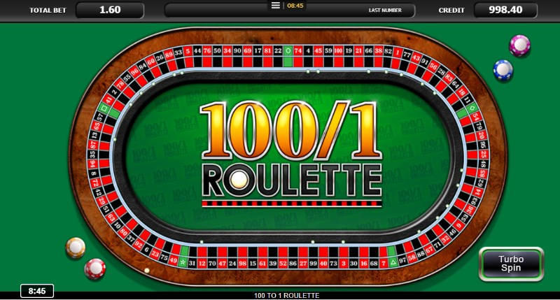 100 to 1 Roulette Betting