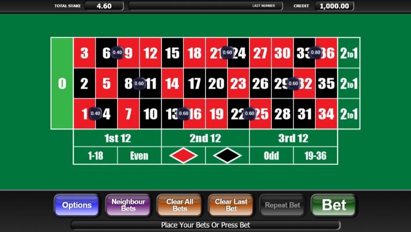 20p Roulette Bet