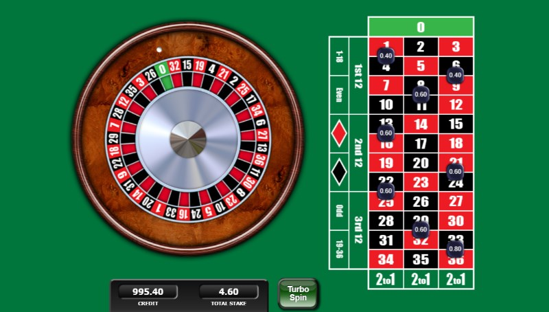 20p Roulette Game Round