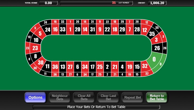 20p Roulette Neighbour Bets