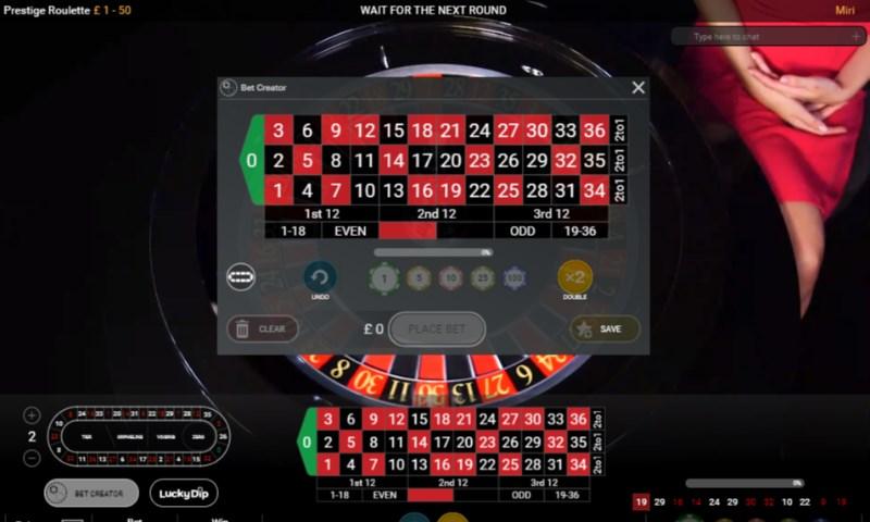 Prestige Roulette Bet Creator