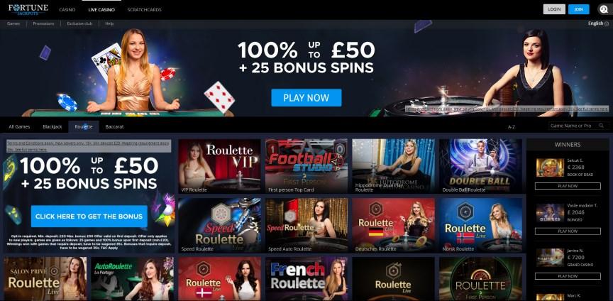 Fortune Jackpots Casino Roulette