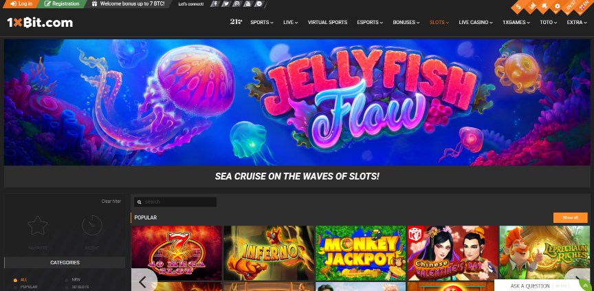 1xbit casino home page