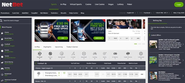 Net bet free betting australian open courtside betting trends