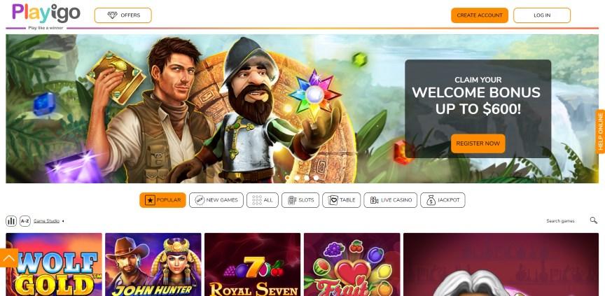 Playigo Casino Online