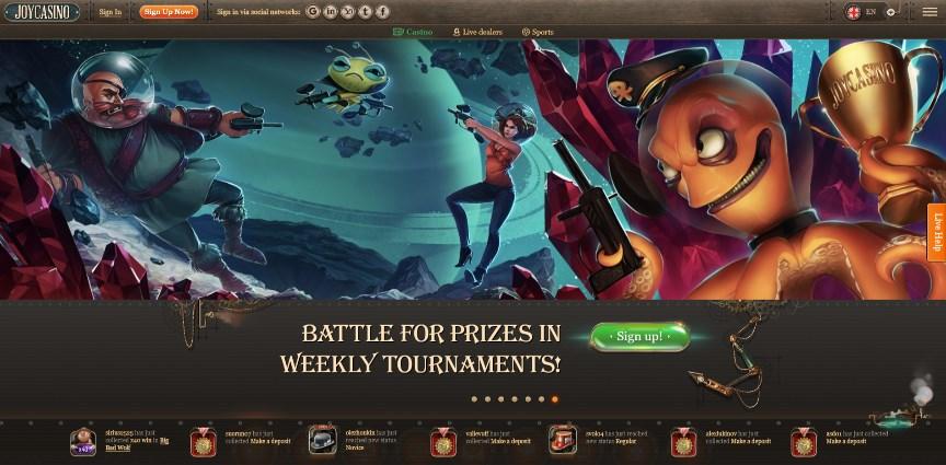Joy Casino Homepage