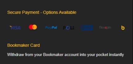 Bookmaker Australia Payment Methods