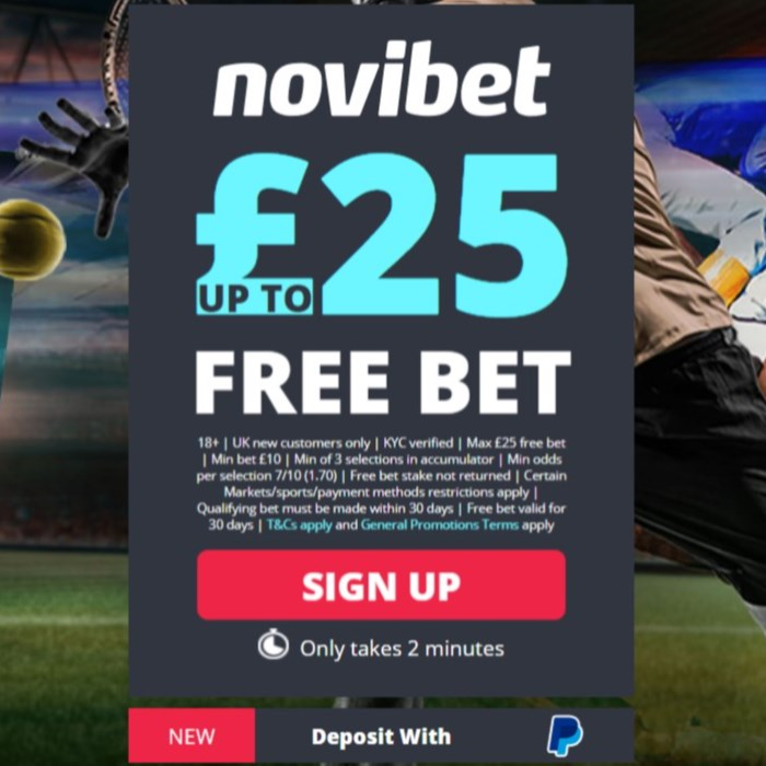 Novibet sign up