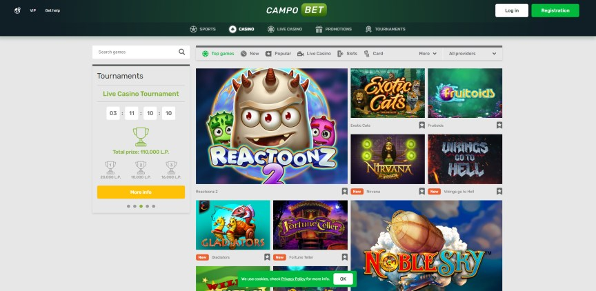 CampoBet Casino Home
