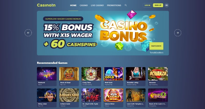 Casinoin Home Page