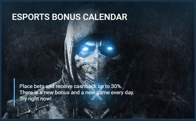 1xbet esports bonus calendar