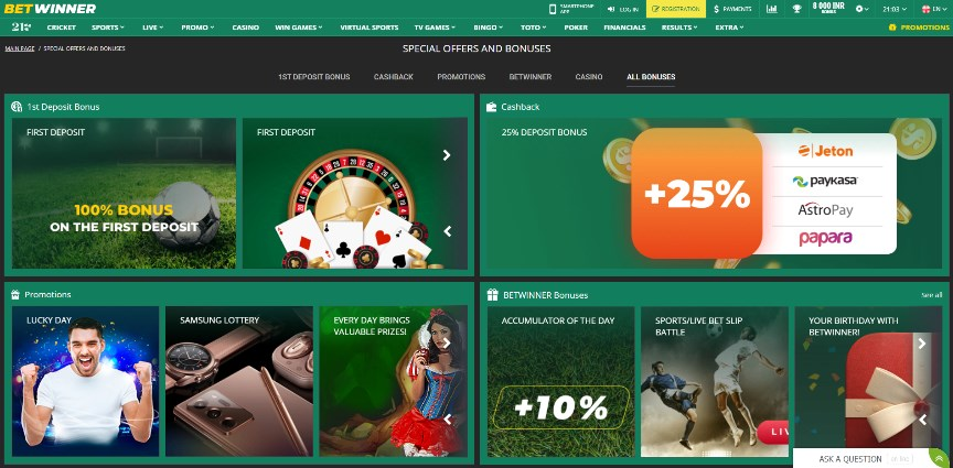 Betwinner Casino Promotion