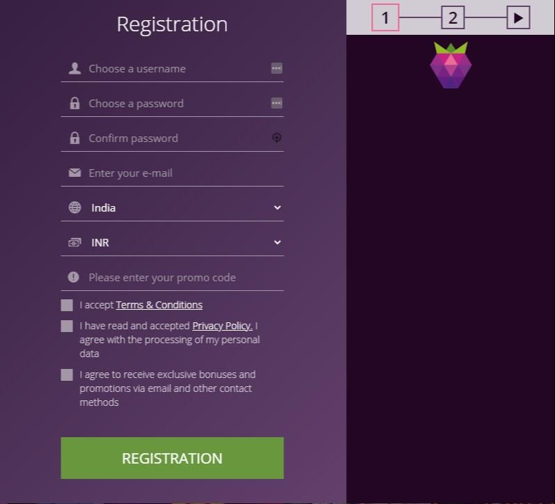 Malina Registration form