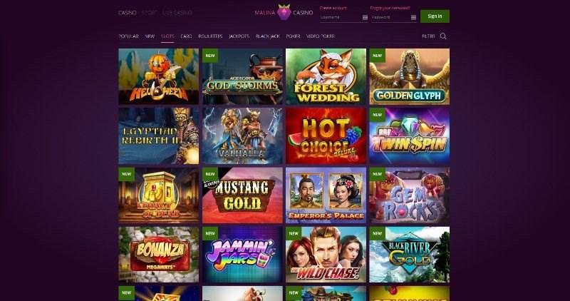 Malina Casino Games
