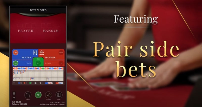 Real Baccarat with Sarati Side Bets