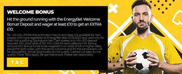 EnergyBet Bonus Code NEWBONUS