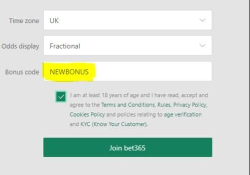 bet365 bonus code newbonus