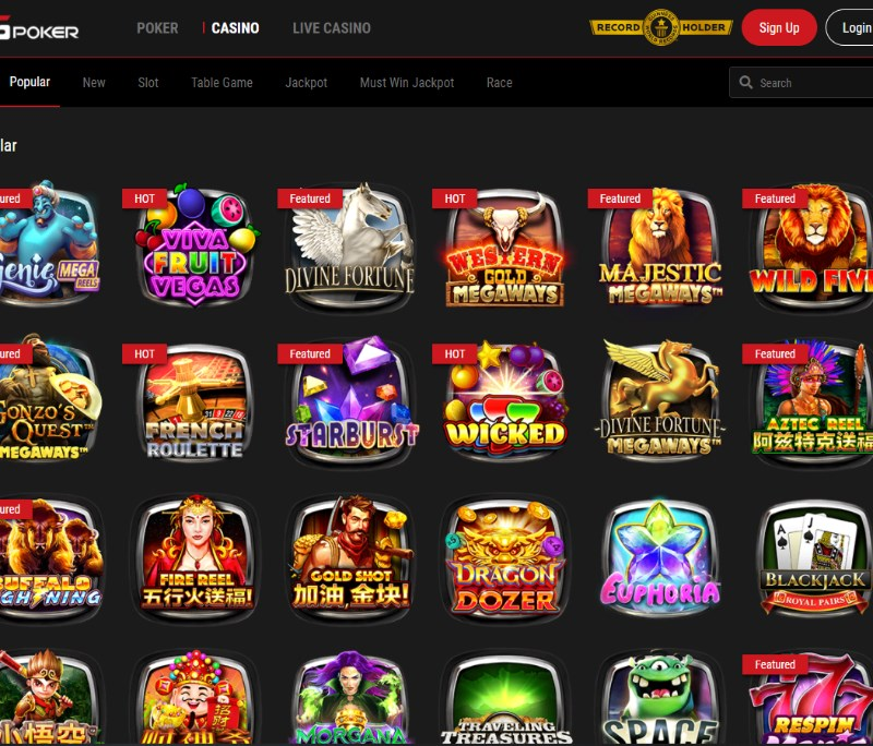 GGPoker Casino Games
