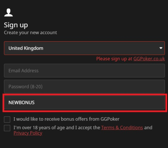 GGPoker Sign Up