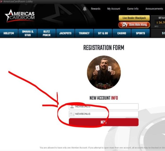 Americas Cardroom Referral Code
