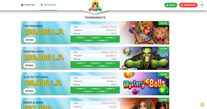 BoaBoa Slots Tournaments