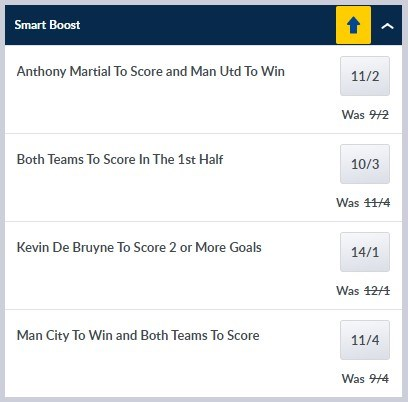 Man United vs Man City Smart Boosts