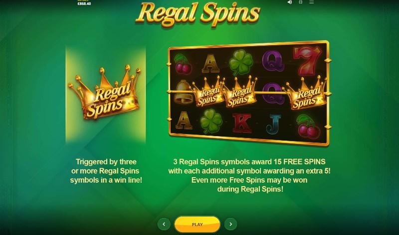 Regal Spins Free Spins