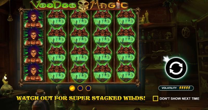 Voodoo magic stacked wilds