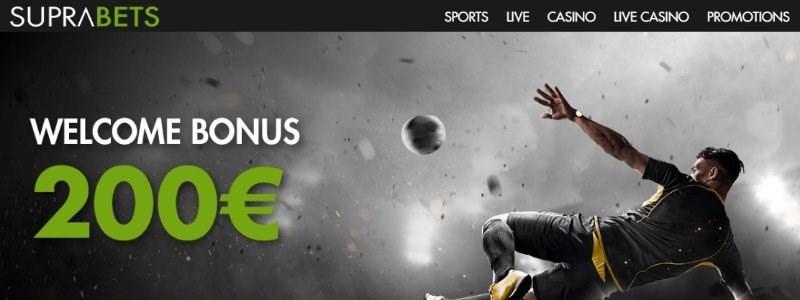 suprabets bonus code 200 EUR
