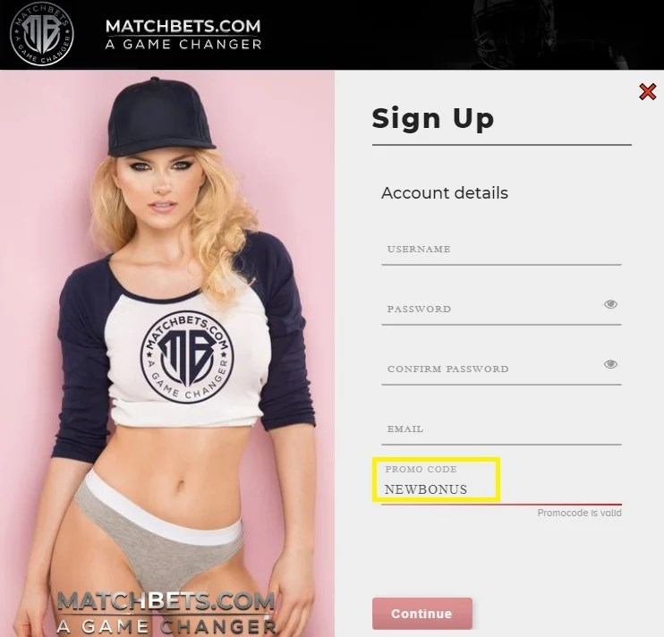 matchbets promo code NEWBONUS