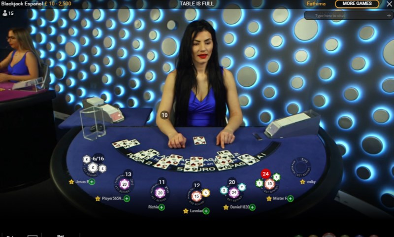 Spanish Live Blackjack