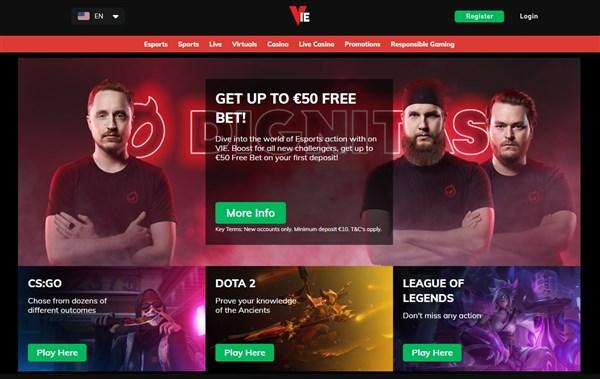 Vie Bet Bonus Code Newbonus Get A 50 Free Bet When Joining
