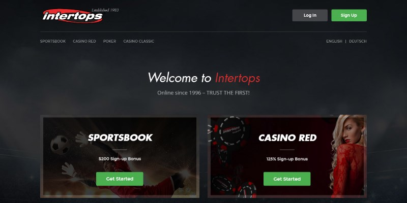 Intertops casino sign in