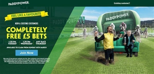 PADDY POWER 35 FREE BETS CHELT