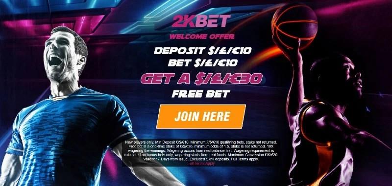 2kbet bonus code 30 free bet