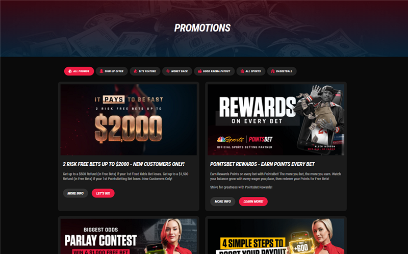 PointsBet NJ Bookmaker Promotions