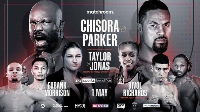 Dereck Chisora vs Joseph Parker Card