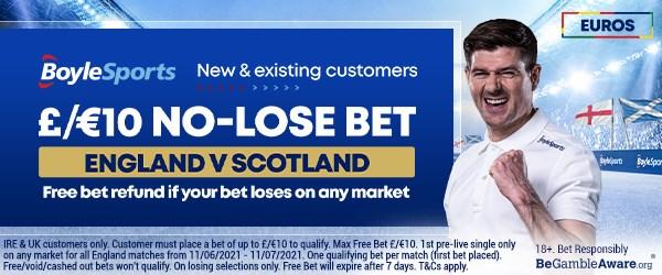 boylesports free bet england v scotland