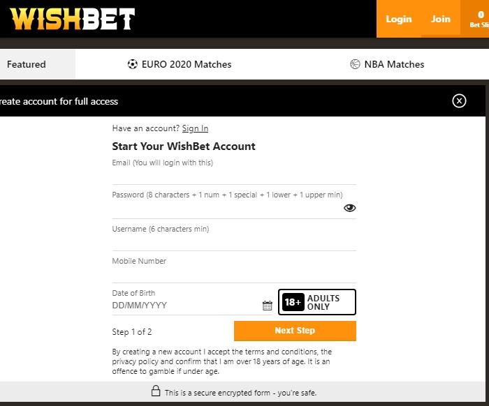 wishbet.com.au code