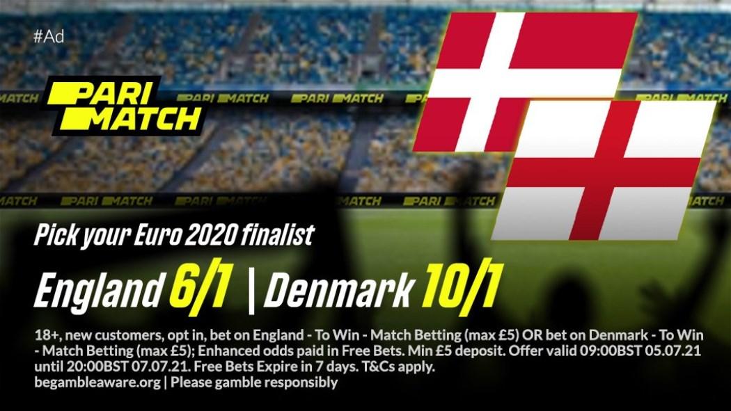 England vs Denmark Parimatch