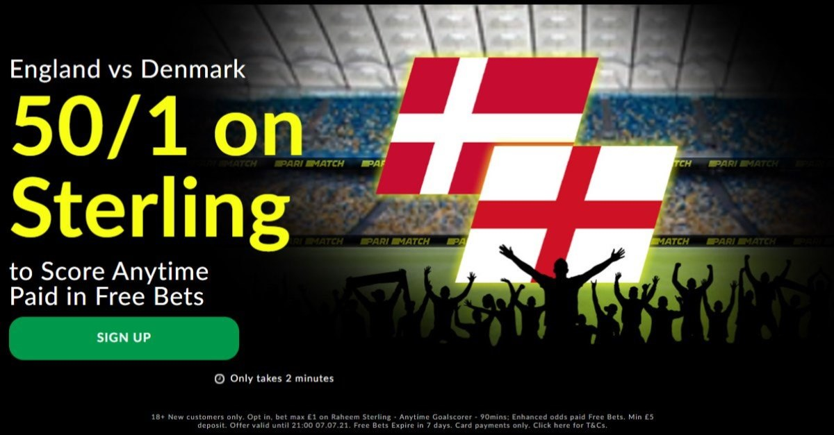 pari match sterling england denmark boost