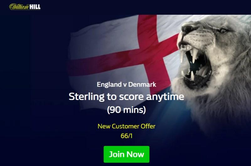 william hill sterling england denmark boost