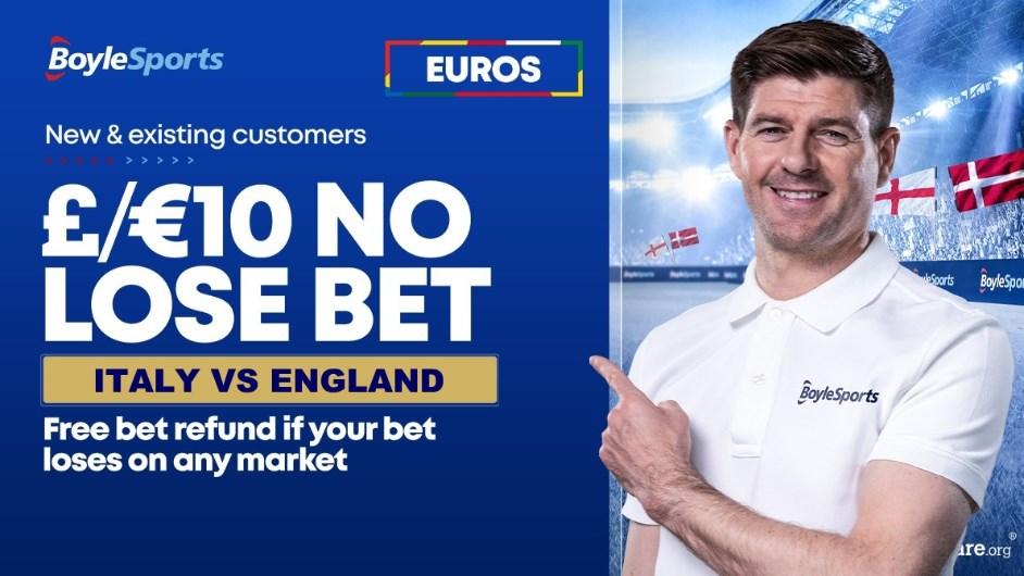 boylesports italy england euro 2020 no lose