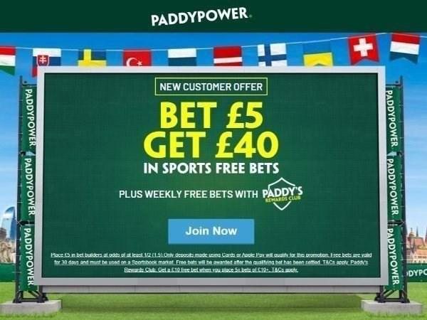 paddy power bet 5 get 40