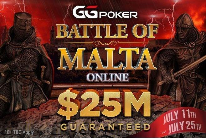 GGPoker $25M GTD Battle of Malta Online Festival